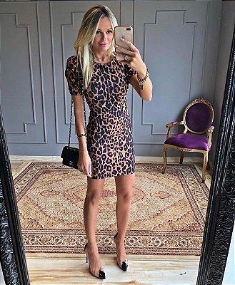 Vestido luxury onça