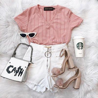 Tee basic rosa