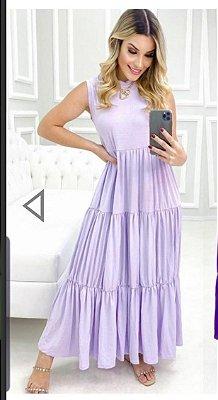Vestido midi viscolycra lilás