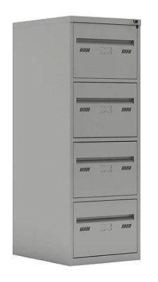 Arquivo de aço Nylon 04 Gavetas Pasta Suspensa L 47 x P 60 x A 133cm