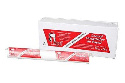 Lencol Hospitalar de papel Extraluxo Isapel 70x50cm com 6 rolos