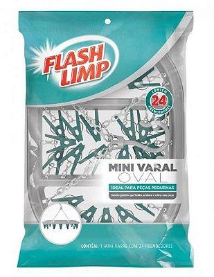 Mini varal redondo c/24 prendedores Flashlimp