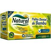 Palito dental bambu c/ 5000 granel Natural