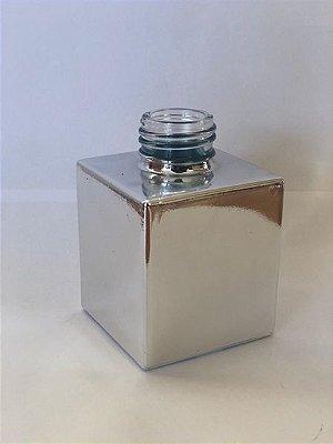 Vidro cube 100ml prata brilho (sem válvula)