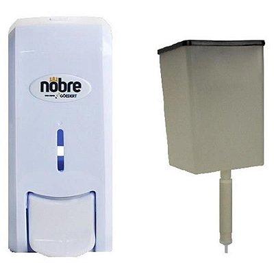 Dispenser Saboneteira dosadora branca Nobre New Classic c/ reservatorio 800ml