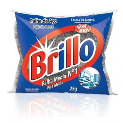 PALHA DE ACO MEDIA BRILLO 25G N.1
