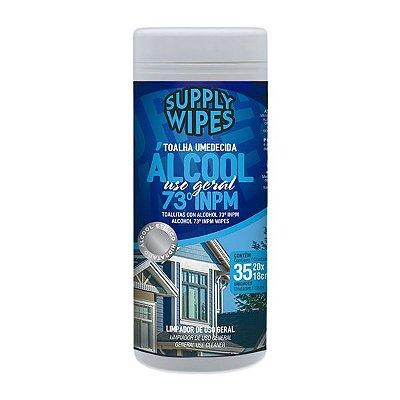 Lencos Umedecidos Supply Clean Alcool 73% com 35 un