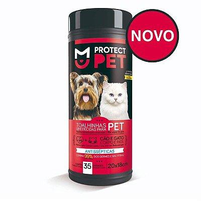 Lencos Umedecidos Protect Pet com 35 Unid - Supply Wipes