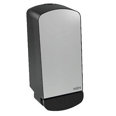 Saboneteira dosadora liquida 800ml com reservatorio Nobre Select (frente em inox) Polido - Nobre