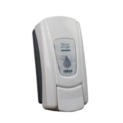 Dispenser p/ Alcool Gel (branco neve) NOBRE City (c/ reservatorio)