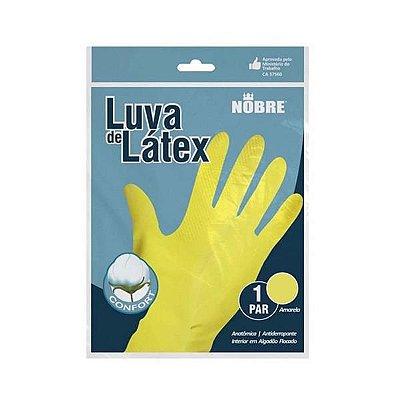 Luva borracha/latex SL amarela M NOBRE CA 41780