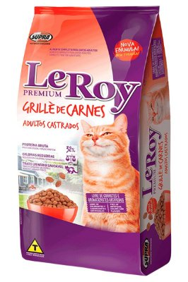 Ração LeRoy Premium Grillè de Carnes para Gatos Adultos Castrados - 10,1kg
