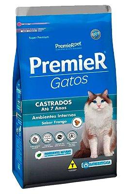 Ração Premier Sabor Frango para Gatos Castrados até 7 anos - 500g