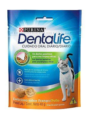 Petisco Nestlé Purina DentaLife para Gatos Sabor Frango - 40g