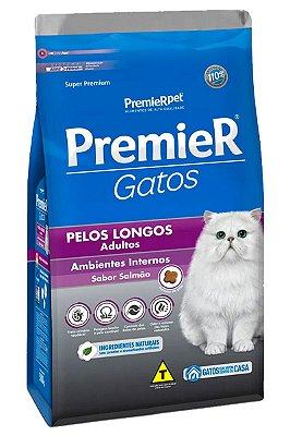 Ração Premier Sabor Salmão para Gatos Adultos Pelos Longos - 1,5kg