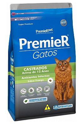 Ração Premier Sabor Frango para Gatos Castrados acima de 12 anos - 500g