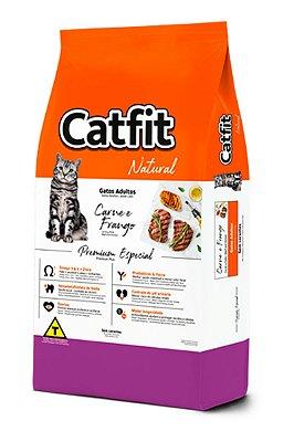Ração Catfit Natural Premium Especial Sabor Carne e Frango para Gatos Adultos - 10,1kg
