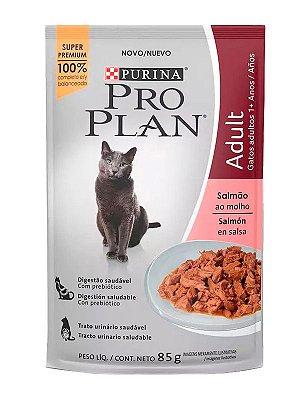 Ração Úmida Nestlé Purina Pro Plan Sachê Sabor Salmão ao Molho para Gatos Adultos - 85g