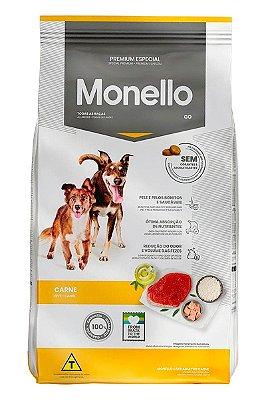Ração Monello Go Premium Especial Sabor Carne para Cães Adultos - 15kg