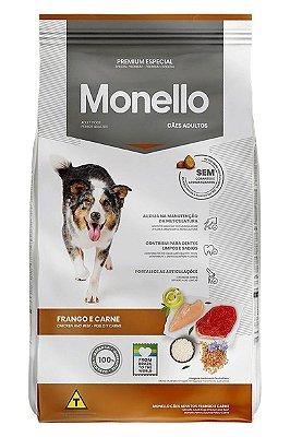 Ração Monello Premium Especial Sabor Frango e Carne para Cães Adultos - 10,1kg