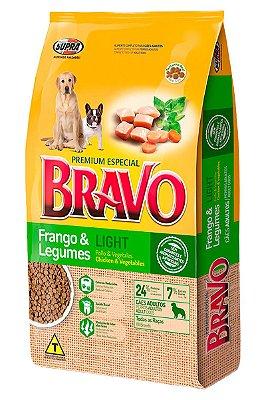 Ração Bravo Premium Especial Light Sabor Frango e Legumes para Cães Adultos - 10,1Kg ou 20Kg