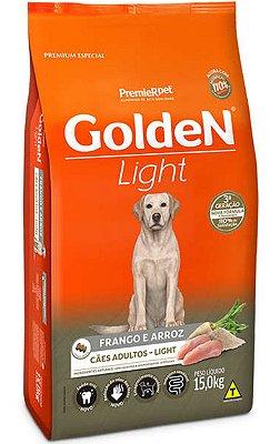 Ração Golden Cães Adultos Light Frango e Arroz - 15Kg