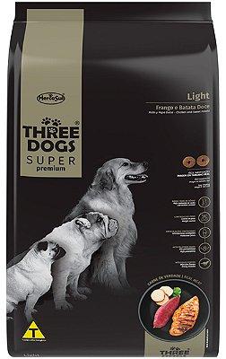 Ração Three Dogs Light para Cães Sabor Frango e Batata Doce - 10,1Kg