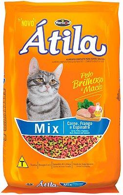Ração Átila Mix Sabor Carne, Frango e Espinafre para Gatos de 10,1kg e 20kg