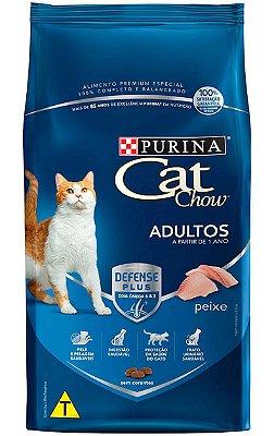 Ração Cat Chow Sabor Peixe para Gatos Adultos - 10,1Kg