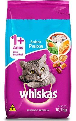 Ração Whiskas Sabor Peixe para Gatos Adultos - 10,1Kg