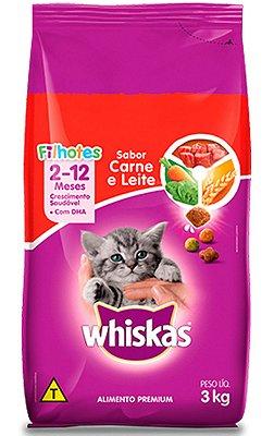 Ração Whiskas Sabor Carne e Leite para Gatos Filhotes - 10,1Kg