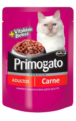 Ração Úmida Primogato Sachê Sabor Carne para Gatos Adultos - 85g