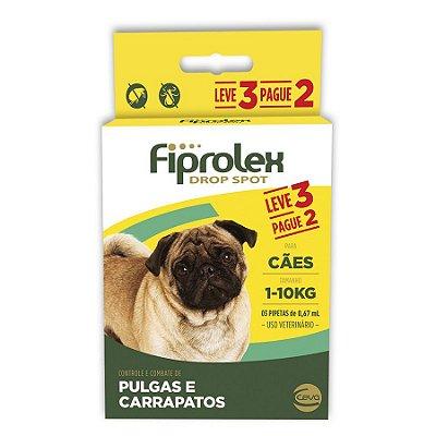 Antipulgas e Carrapatos Fiprolex Drop Spot Ceva para Cães até 10kg - Leve 3 Pague 2