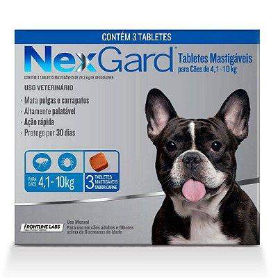Nexgard Antipulgas e Carrapatos Cães 4,1 a 10kg C/3 Comprimidos