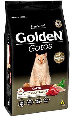 Ração Golden Sabor Carne para Gatos Castrados - 3Kg