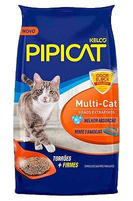 Areia Higiênica Pipicat Multi-Cat para Gatos - 12Kg