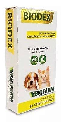 Biodex anti-inflamatório, antialérgico e antirreumático com 20 comprimidos