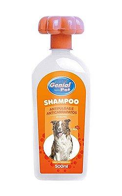 Shampoo Genial Pet Antipulgas e Anticarrapatos para Cachorro - 500ml