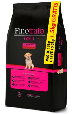 Ração Finotrato Gold Super Premium para Cães Filhotes de Raças Grandes e Gigantes - PAGUE 15Kg E LEVE 16,5kg