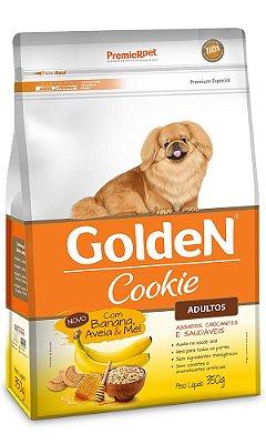 Biscoito Golden Cookie para Cães Adultos Sabor Banana, Aveia e Mel - 350g