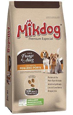 Ração Mikdog Premium Especial para Cães Adultos Pequeno Porte Sabor Frango e Arroz - 3Kg