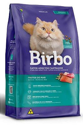 Ração Birbo Premium Sabor Frutos do Mar para Gatos Castrados - 7Kg e 15Kg