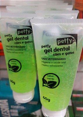 Gel Dental 60gr Sabor Menta para Cães e Gatos - Petfy