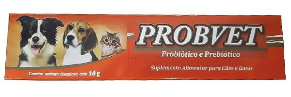 Probvet Probiótico e Prebiótico Suplemento Cães e Gatos 14gr - VetBras