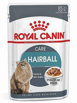Ração Úmida Royal Canin Sachê Feline Hairball Care Eliminação de Pelos Ingeridos para Gatos - 85g
