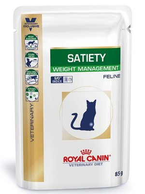 Raçâo Úmida Royal Canin Sachê Feline Veterinary Satiety Weight Management para Gatos - 85g