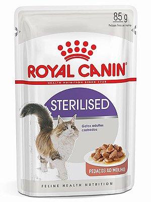 Ração Úmida Royal Canin Sachê Feline Sterilised para Gatos Adultos Castrados - 85g