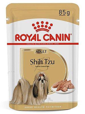 Ração Úmida Royal Canin Sachê para Cães Adultos da Raça Shih Tzu - 85g