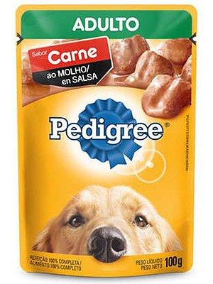 Ração Úmida Pedigree Sachê Sabor Carne ao Molho para Cães Adultos - 100g