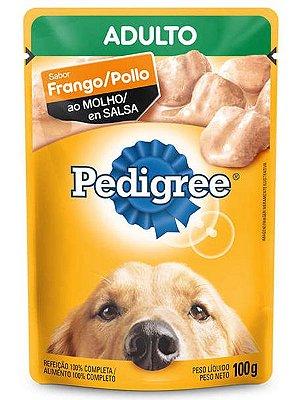 Ração Úmida Pedigree Sachê Sabor Frango ao Molho para Cães Adultos - 100g